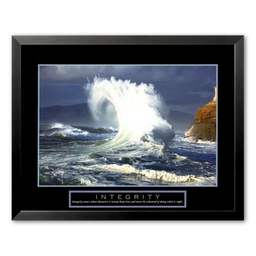 Art.com Integrity: Wave Framed Art Print