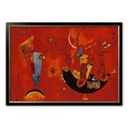 Art.com 'Mit Und Gegen' Framed Art Print by Wassily Kandinsky