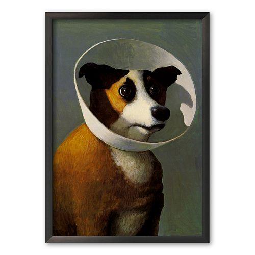 Art.com Filmhound 24.3 x 17.4 Framed Art Print by Michael Sowa