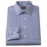 JT Oliver Classic-Fit Gingham Twill Spread-Collar Dress Shirt
