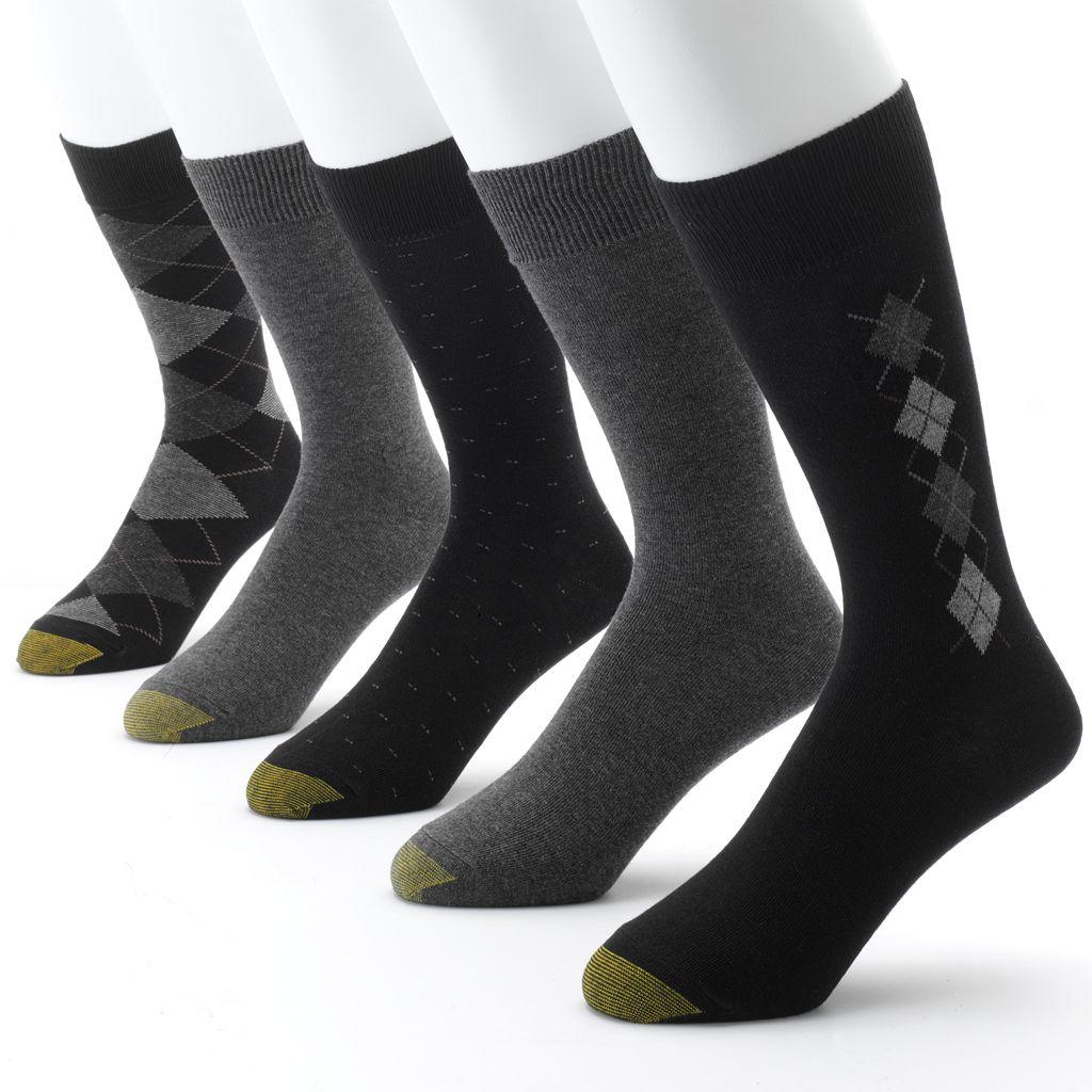 Men's GOLDTOE 5-pk. Argyle Dress Socks