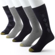 Men's GOLDTOE 5-pk. Argyle Dress Socks