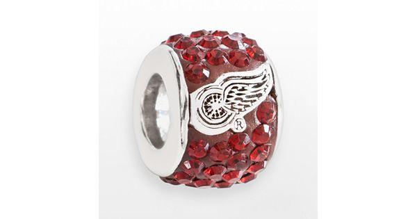 Logoart Detroit Red Wings Sterling Silver Crystal Logo