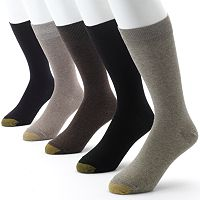 Men's GOLDTOE 5 pkSolid Flat-Knit Dress Socks