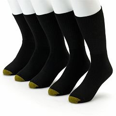 Men's GOLDTOE 5 pkCasual Crew Socks
