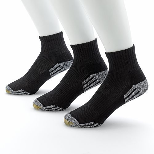 Men's GOLDTOE® 3-pk. G-Tec Outlast Quarter Athletic Socks