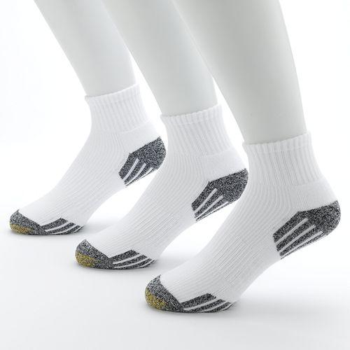Men's GOLDTOE 3-pk. G-Tec Outlast Quarter Athletic Socks