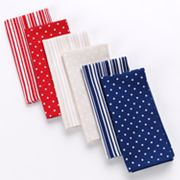 Americana 4-pk. Dot and Striped Napkins