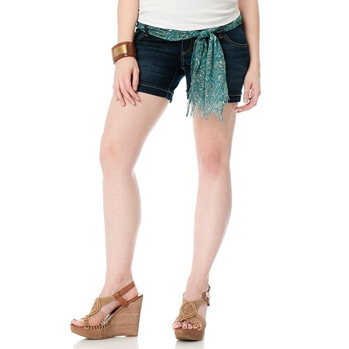10067be375a33 Maternity Oh Baby by Motherhood™ Underbelly Denim Shorts