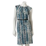 Dana Buchman Snakeskin Ponte Dress