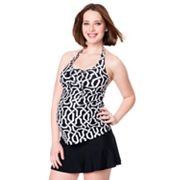 Oh Baby by Motherhood Geometric Halterkini Top and Skirtini Swim Set - Maternity