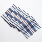 Americana Plaid Seersucker Table Runner