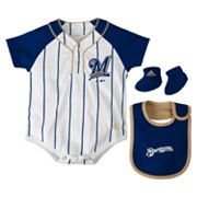 adidas Milwaukee Brewers Creeper Set - Baby