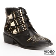 sugar Clipper Studded Ankle Boots - Women