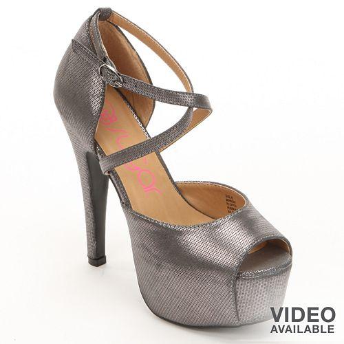 bd5b26b72 sugar Minnow Peep-Toe Platform High Heels - Women