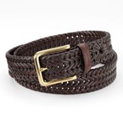 Croft and Barrow Braided Leather Belt