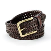 Croft and Barrow Braided Leather Belt - Big and Tall