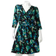 ELLE Floral Empire Dress - Women's Plus