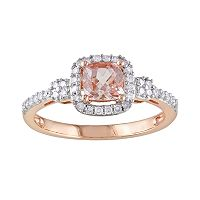 10k Rose Gold 1/5-ct. T.W. Diamond & Morganite Ring