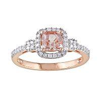10k Rose Gold 1/5-ct. T.W. Diamond & Morganite Ring