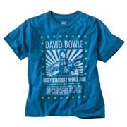 David Bowie 1972 Ziggy Stardust World Tour Tee - Boys 8-20