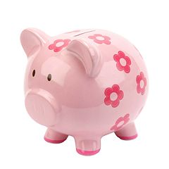 Carter's Floral Piggy Bank