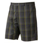 Grand Slam X Solar Plaid Performance Easy-Care Flat-Front Shorts - Big and Tall