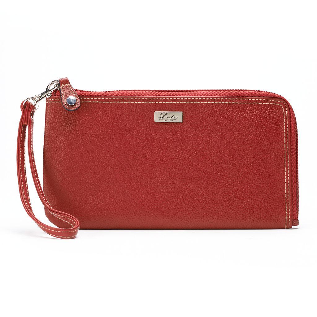 Buxton Westcott Expandable RFID-Blocking Leather Wallet