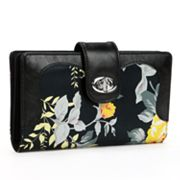 Buxton Floral Leather Super Wallet