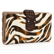 Buxton Zebra Leather Super Wallet