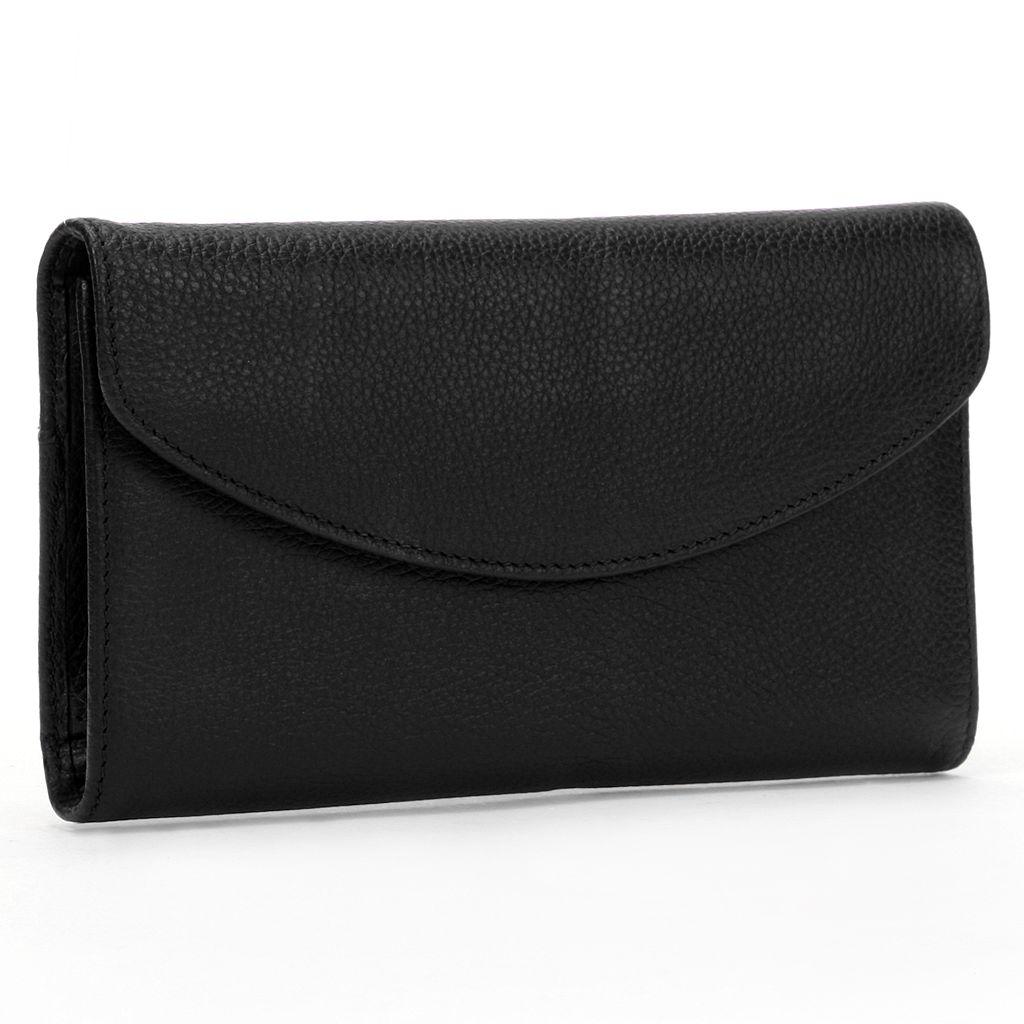 Dopp Leather Framed Organizer Clutch Wallet