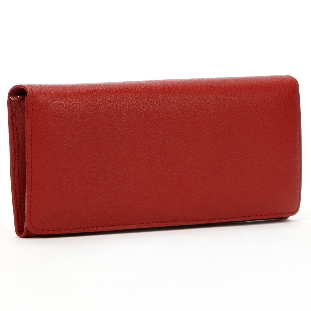 Dopp Leather Expandable Clutch Wallet