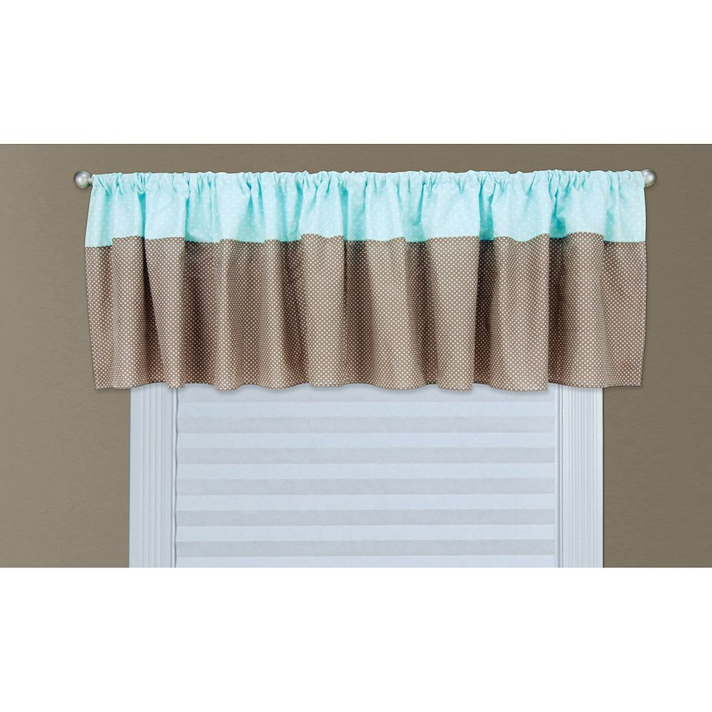 Trend Lab Cocoa Mint Valance