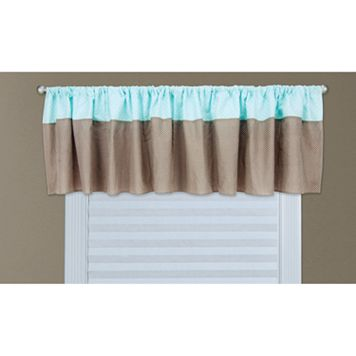 Trend Lab Cocoa Mint Window Valance