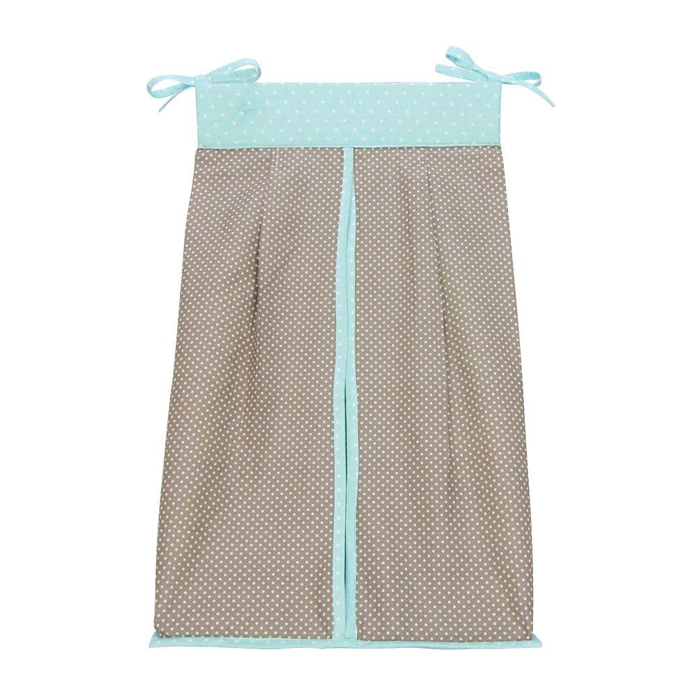 Trend Lab Cocoa Mint Diaper Stacker