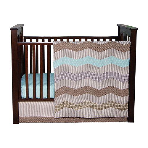 Trend Lab 3-pc. Cocoa Mint Crib Set