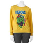 Mighty Fine I Only Date Heroes Sweatshirt - Juniors