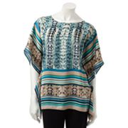 Dana Buchman Animal Poncho Top
