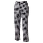 Dana Buchman Geometric Straight-Leg Twill Ankle Pants