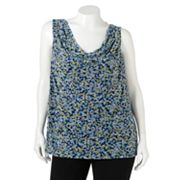 ELLE Floral Mesh Top - Women's Plus