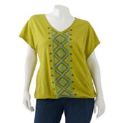 SONOMA life + style Embroidered Dolman Top - Women's Plus
