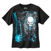 Helix Cross, Burst & Skull Glow-in-the-Dark Tee - Boys 8-20