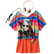 Self Esteem Striped Free Spirit Crop Top Set - Girls 7-16