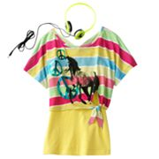 Self Esteem Striped Horse Crop Top Set - Girls 7-16