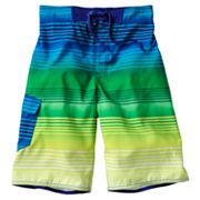 Hang Ten Neon Stripe Cargo Swim Trunks - Boys 8-20