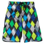 Hang Ten Allover Diamonds Swim Trunks - Boys 8-20