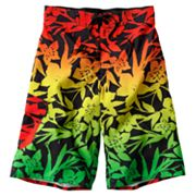 Hang Ten Rasta Floral Cargo Swim Trunks - Boys 8-20