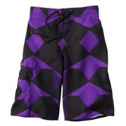 Hang Ten Allover Geo Cargo Swim Trunks - Boys 8-20