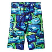 Hang Ten Photo Real Shark Cargo Swim Trunks - Boys 8-20