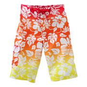 Hang Ten Hombre Floral Cargo Swim Trunks - Boys 8-20